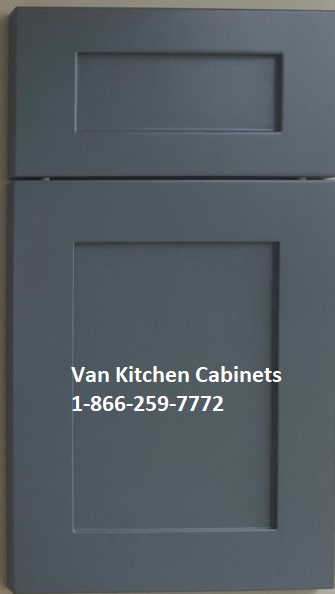 Shaker thermofoil doors gray